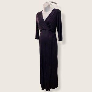 Maternity Long Maxi Dress Dark Blue Size XL